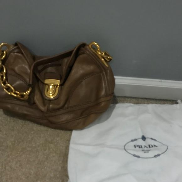 bba382a597d Prada Bags | Brown Calfskin Bag With Gold Chain Strap | Poshmark